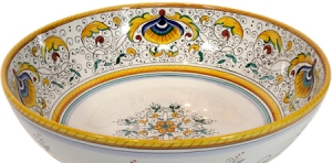 ceramic-majolica-pasta-bowl-peacock-yellow-34cm