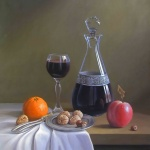 STILL-LIFE-WINE-DECANTER-FRUIT-NUTS